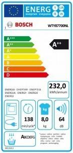 Energieverbruik Bosch WTY87700NL