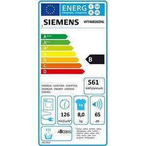 Siemens WT46B202NL energielabel