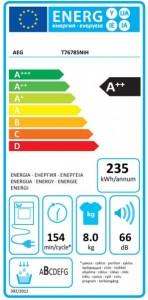 AEG T76785NIH - energielabel