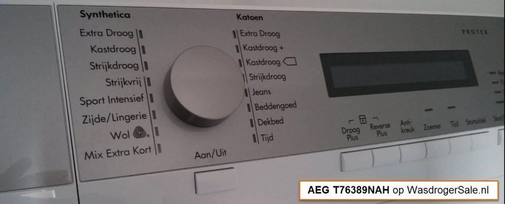 AEG T76389NAH bedieningspaneel