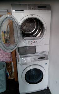 wasdroger op je wasmachine