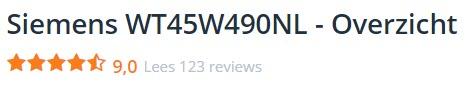 Andere over de Siemens WT45W490NL