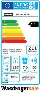 Energieverbruik van de Miele warmtepompdroger