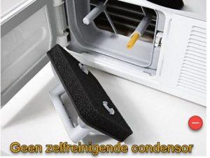 Geen zelfreinigende condensor op de Miele