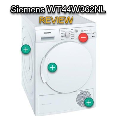Siemens WT44W362NL review: pluspunten en minpunten uit test