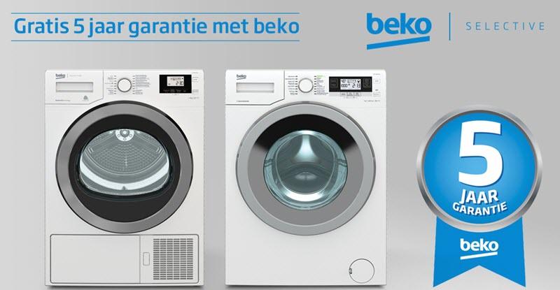 Beko wasdrogers met 5 jaar garantie