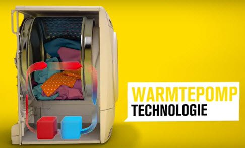 Energiezuinige Zanussi warmtepompdroger