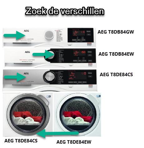 Verschillen en overeenkomsten tussen AEG warmtepompdrogers