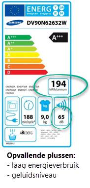meer over energieverbruik kosten en geluid