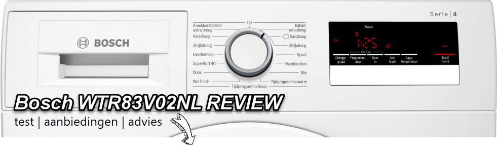 Bosch WTR83V02NL review door redactie WasdrogerSale.nl