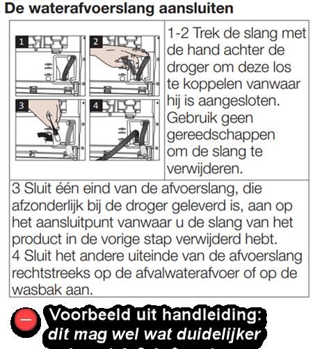 Handleiding Beko DCU7230BX uitleg niet heel duidelijk