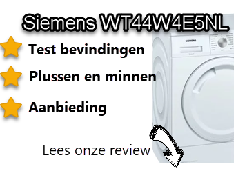 Siemens WT44W4E5NL review door Wasdrogersale