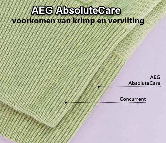 AEG AbsoluteCare - krimpen en vervilting