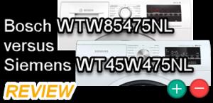 Combi Bosch WTW85475NL – Siemens WT45W475NL review