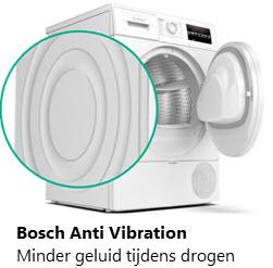 Geluid tijdens drogen en nut van Anti Vibration