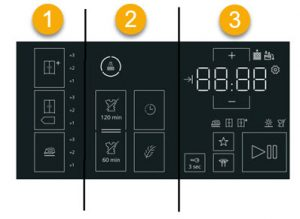 indeling touch paneel - bediening Siemens WT7U4600NL