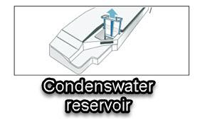 legen van condenswater reservoir